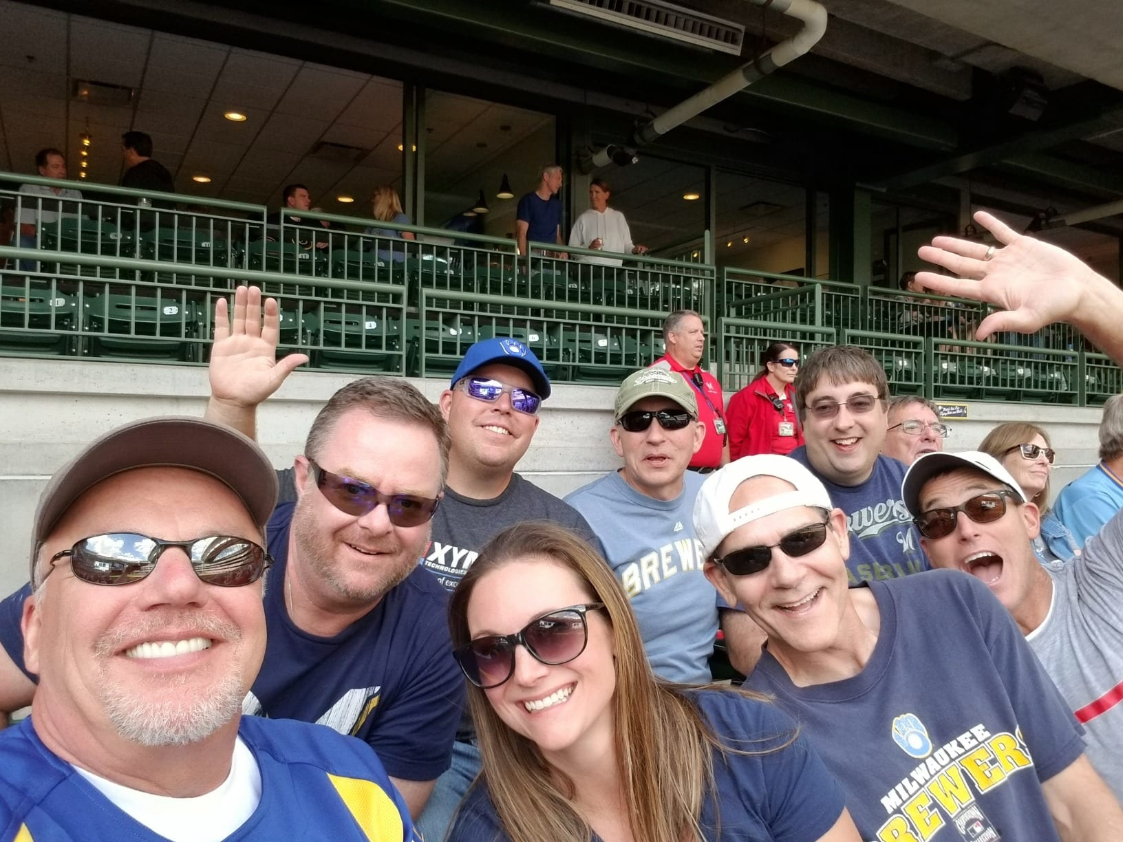 Xymox Executives at the Brewers Game